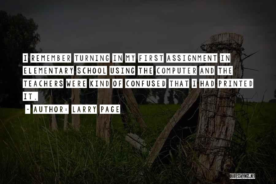 Turning Page Quotes By Larry Page