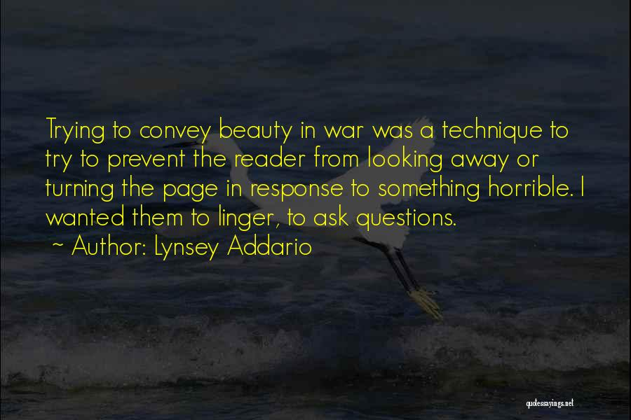 Turning Page Quotes By Lynsey Addario