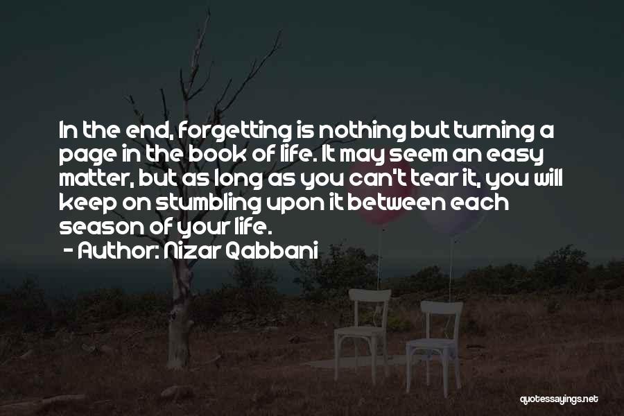 Turning Page Quotes By Nizar Qabbani