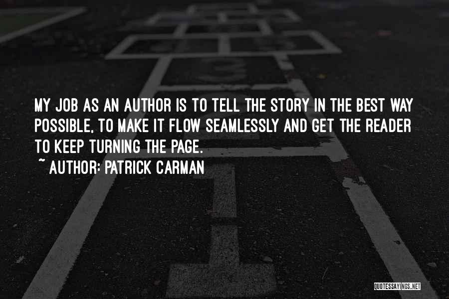 Turning Page Quotes By Patrick Carman