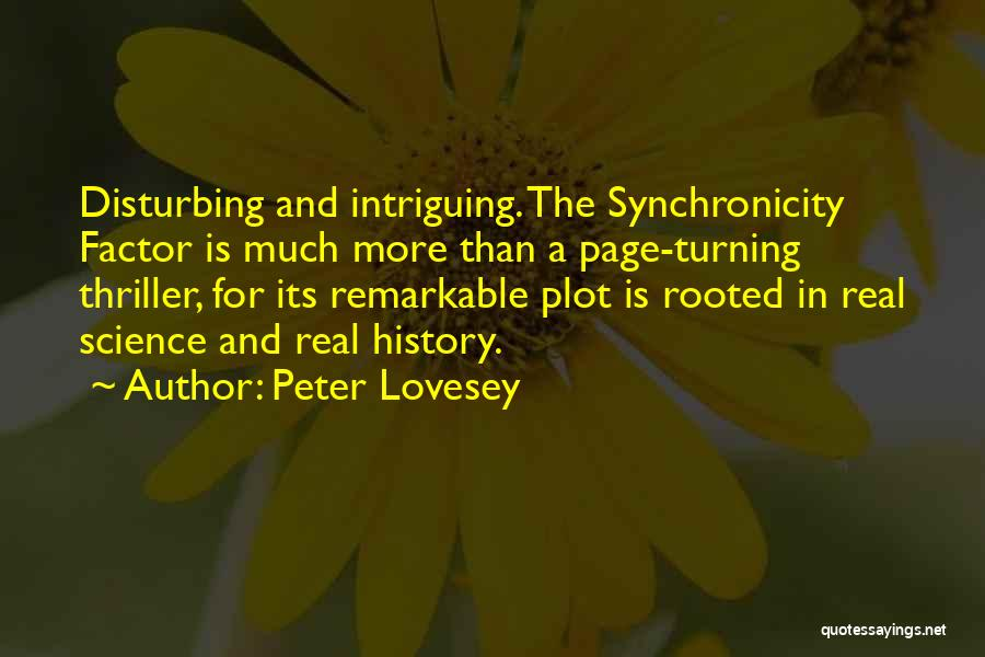 Turning Page Quotes By Peter Lovesey