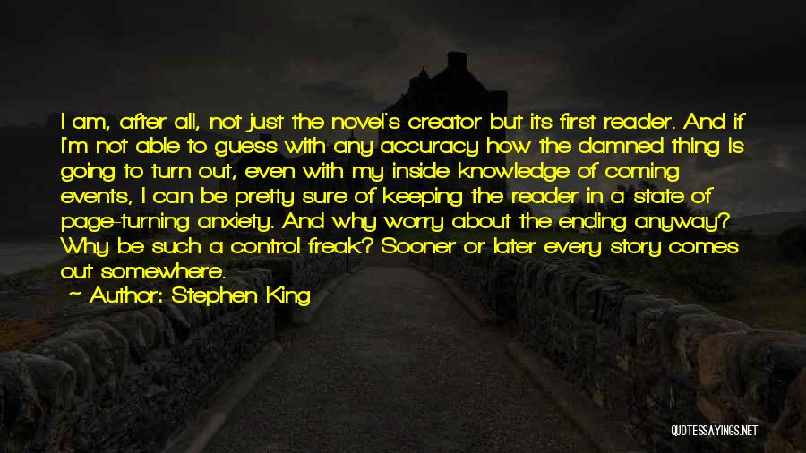 Turning Page Quotes By Stephen King