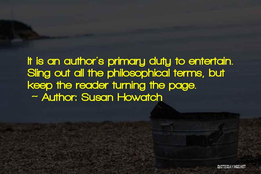 Turning Page Quotes By Susan Howatch