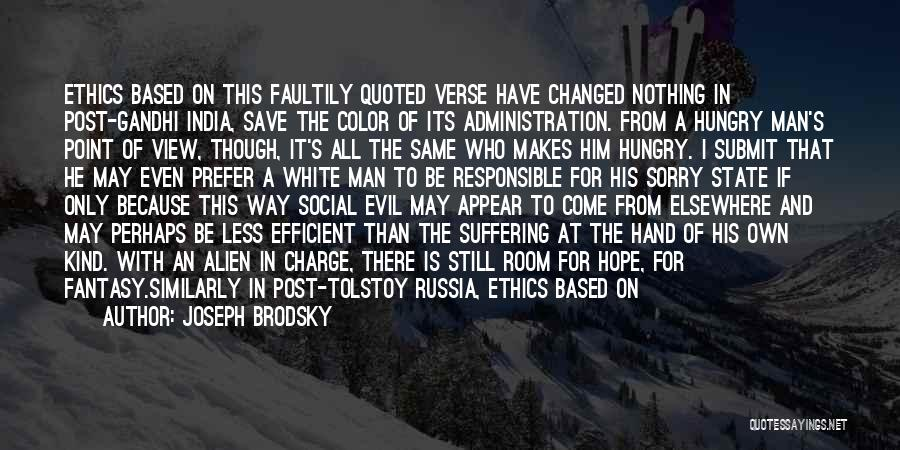Turning The Other Cheek Quotes By Joseph Brodsky