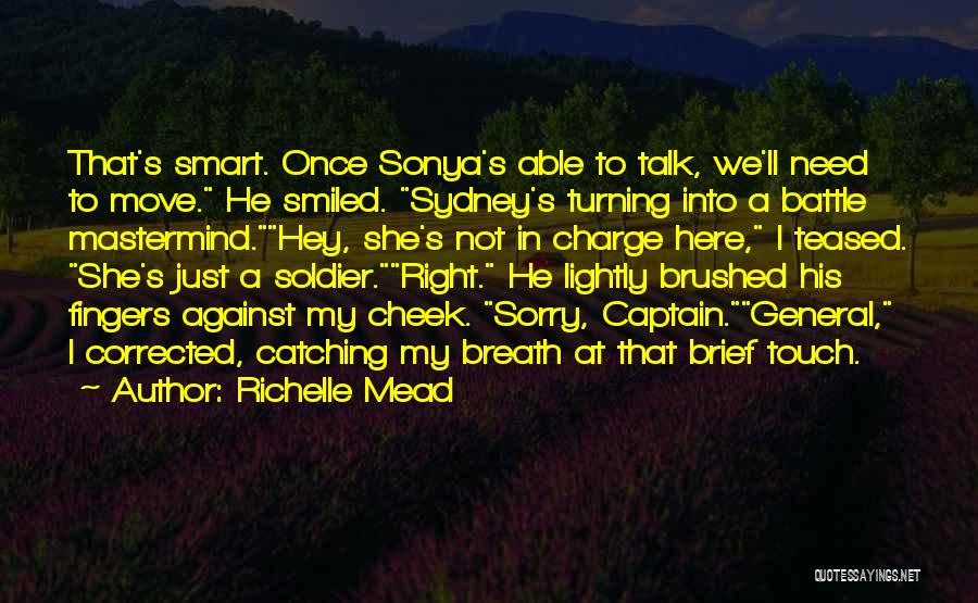 Turning The Other Cheek Quotes By Richelle Mead
