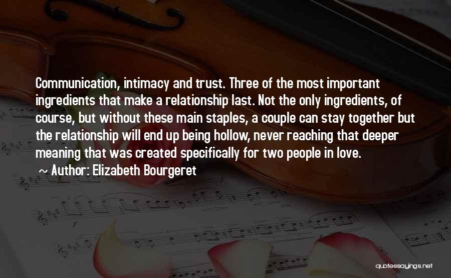 Two Couples Love Quotes By Elizabeth Bourgeret