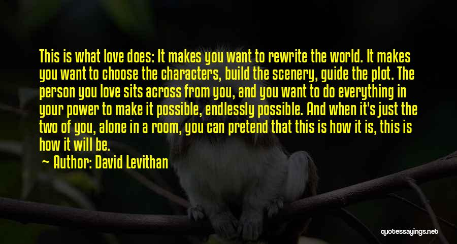 Two Person In Love Quotes By David Levithan