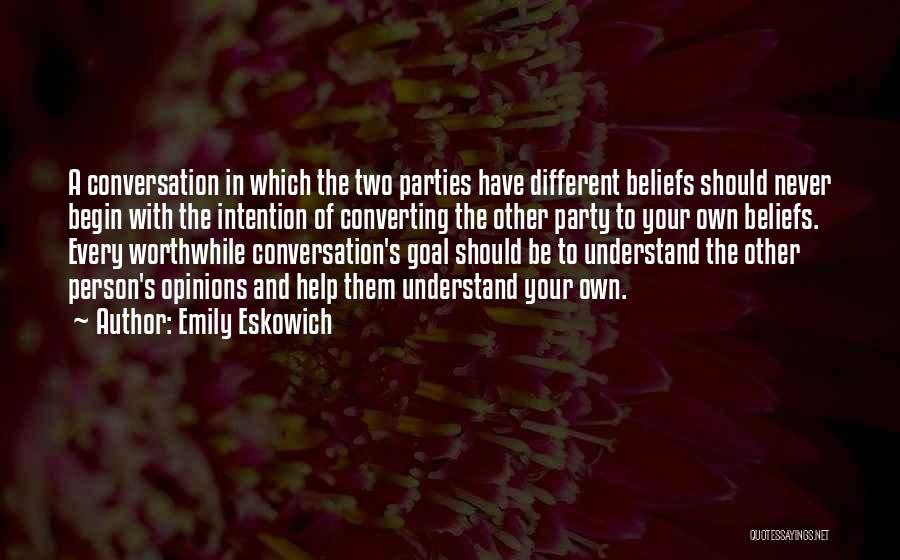 Two Person In Love Quotes By Emily Eskowich
