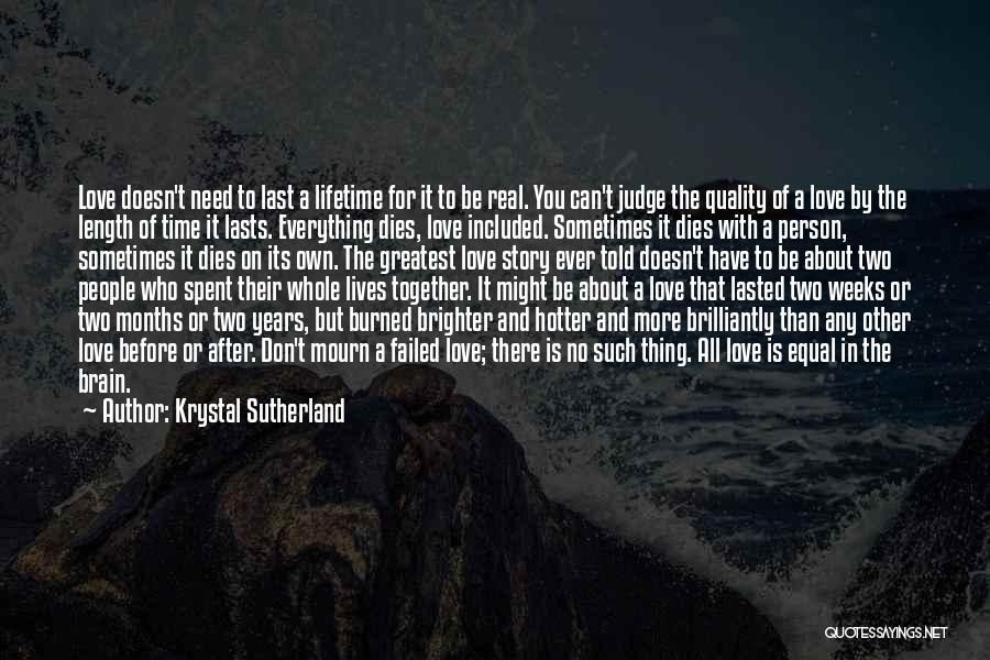 Two Person In Love Quotes By Krystal Sutherland