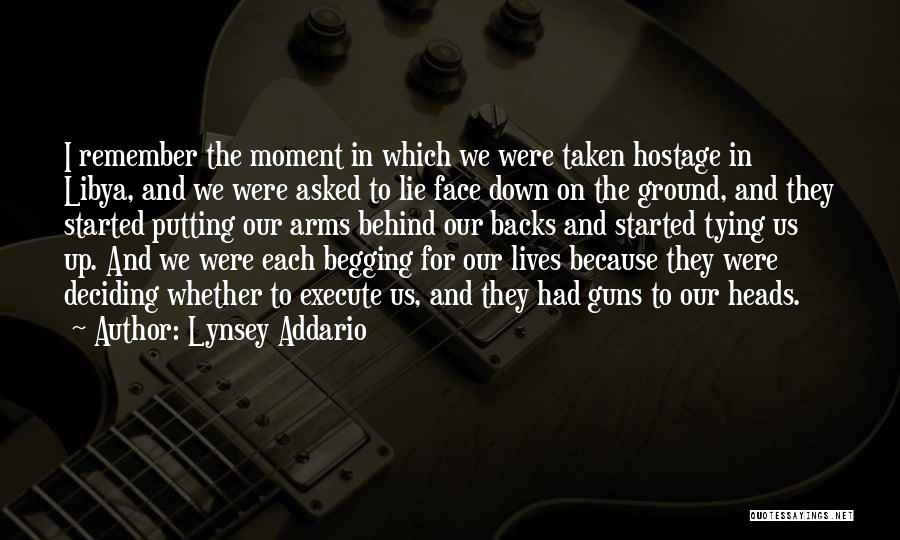 Tying Up Quotes By Lynsey Addario