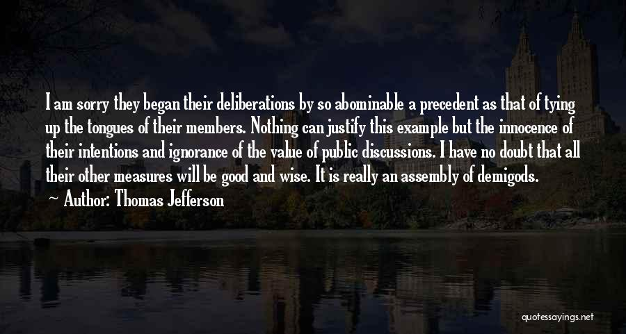 Tying Up Quotes By Thomas Jefferson