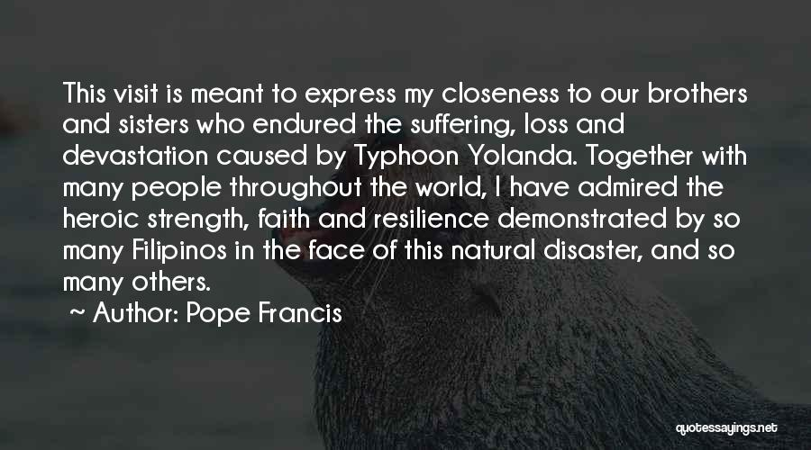 Typhoon Quotes By Pope Francis