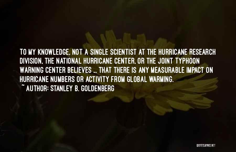 Typhoon Quotes By Stanley B. Goldenberg