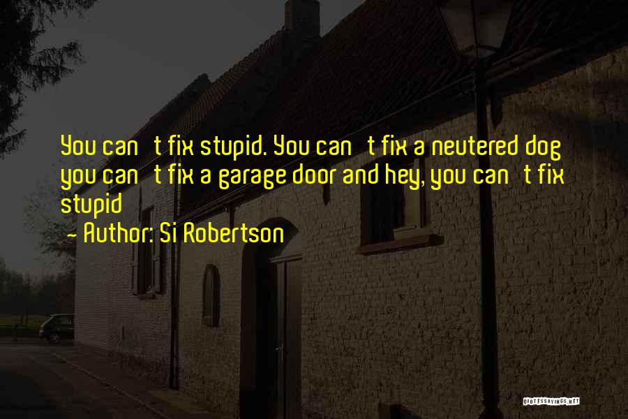U Can't Fix Stupid Quotes By Si Robertson