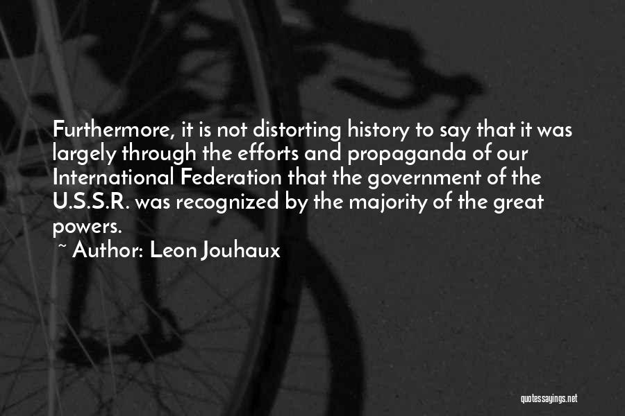 U R Great Quotes By Leon Jouhaux