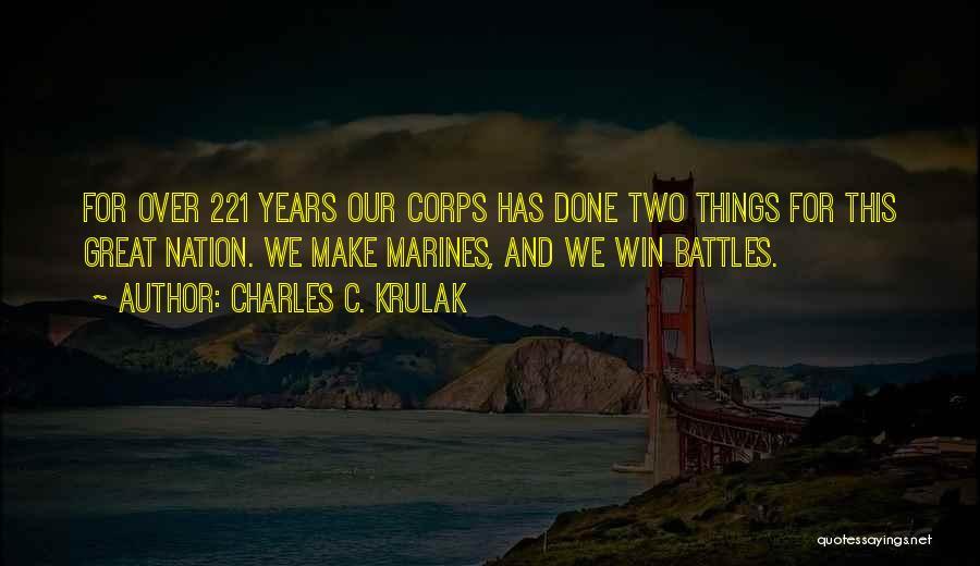 U.s. Marines Quotes By Charles C. Krulak