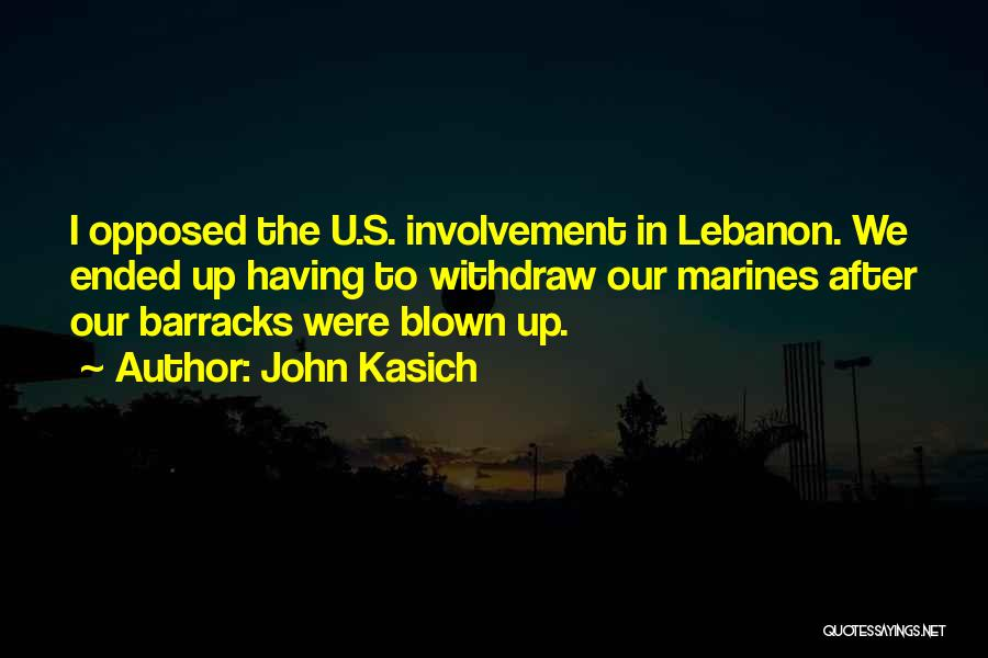 U.s. Marines Quotes By John Kasich