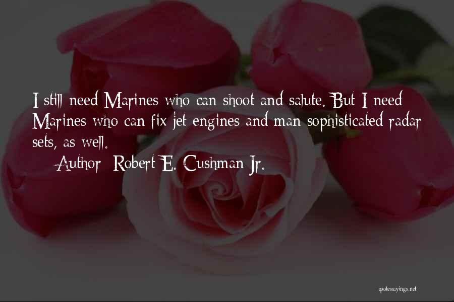 U.s. Marines Quotes By Robert E. Cushman Jr.