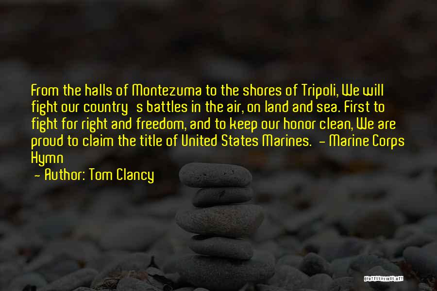 U.s. Marines Quotes By Tom Clancy