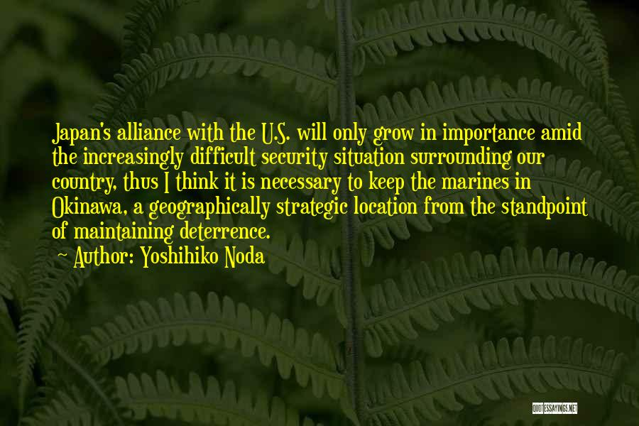 U.s. Marines Quotes By Yoshihiko Noda
