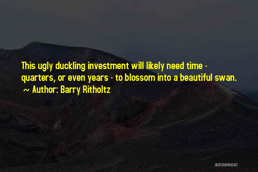 Ugly Duckling Swan Quotes By Barry Ritholtz