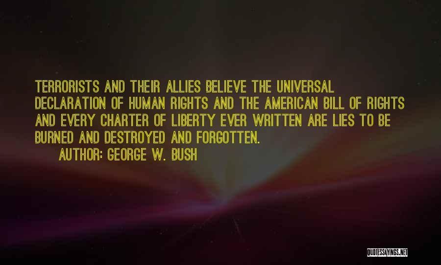Un Declaration Of Human Rights Quotes By George W. Bush