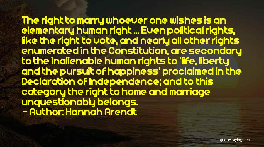 Un Declaration Of Human Rights Quotes By Hannah Arendt
