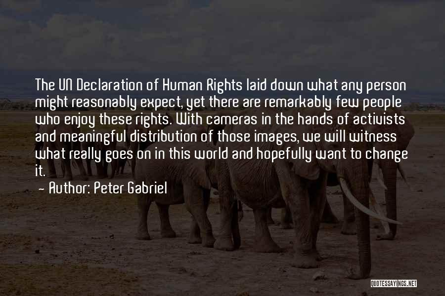 Un Declaration Of Human Rights Quotes By Peter Gabriel