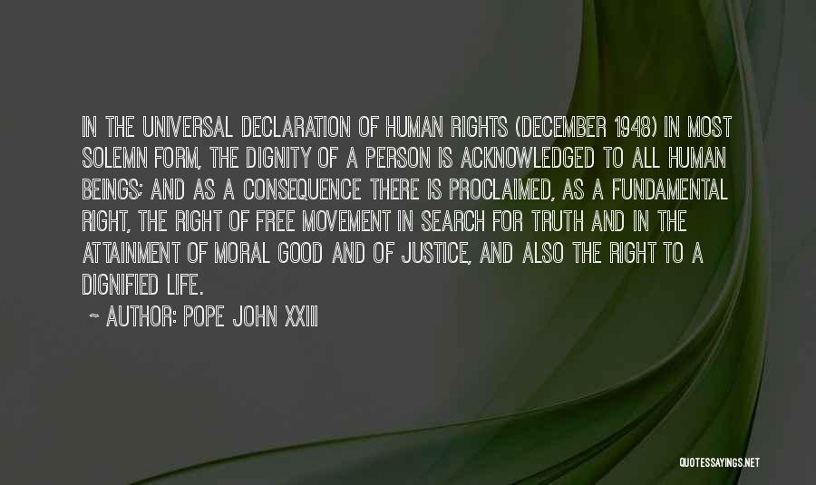 Un Declaration Of Human Rights Quotes By Pope John XXIII