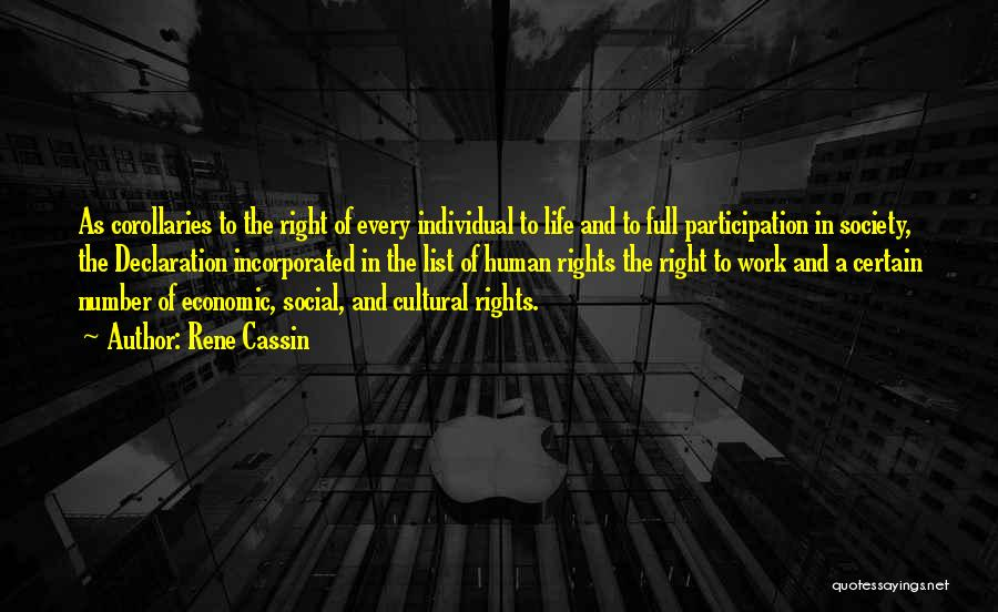 Un Declaration Of Human Rights Quotes By Rene Cassin