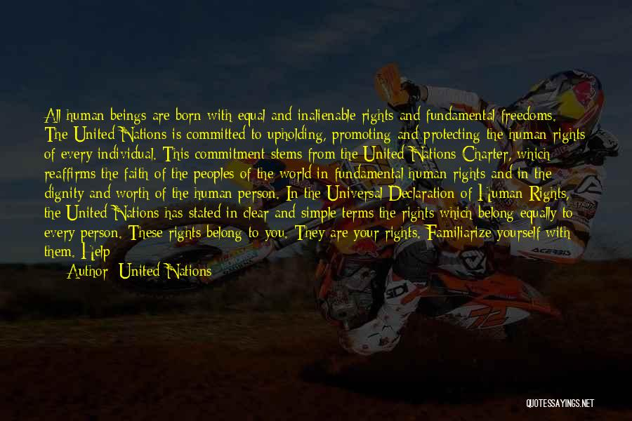 Un Declaration Of Human Rights Quotes By United Nations