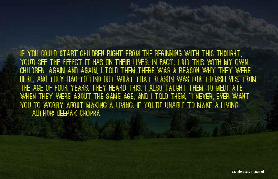 Unable To Focus Quotes By Deepak Chopra