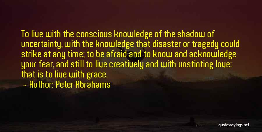 Uncertainty Of Love Quotes By Peter Abrahams