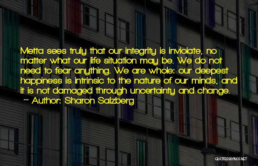 Uncertainty Of Love Quotes By Sharon Salzberg