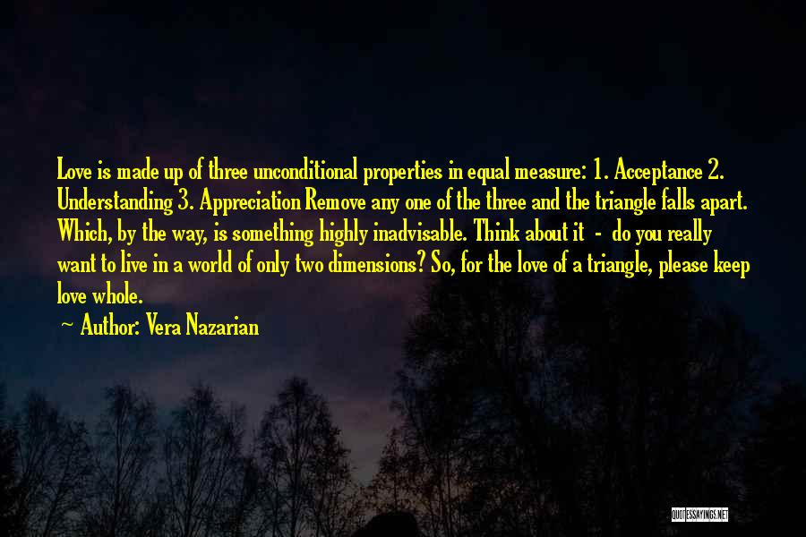 Unconditional Love And Acceptance Quotes By Vera Nazarian
