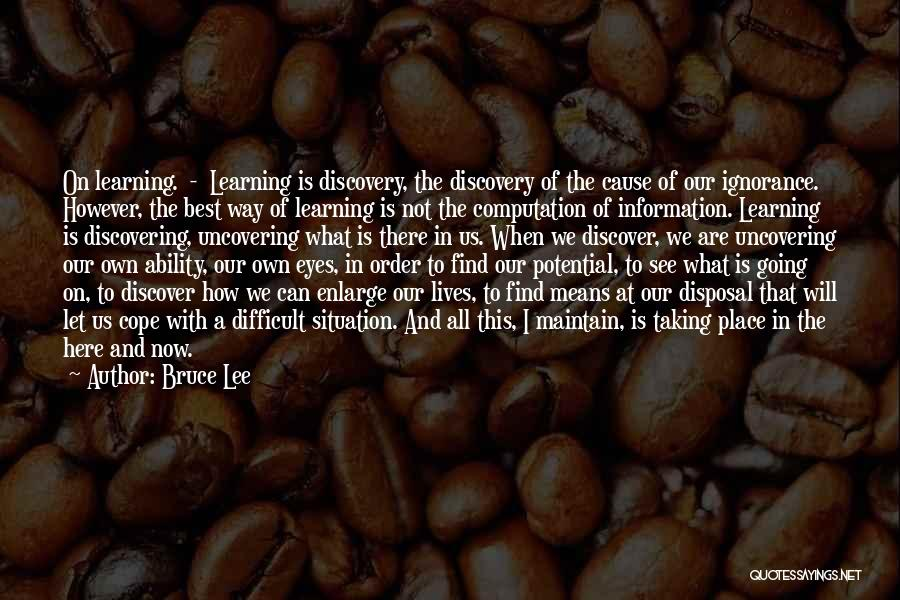 Uncovering Quotes By Bruce Lee