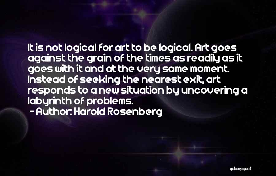 Uncovering Quotes By Harold Rosenberg