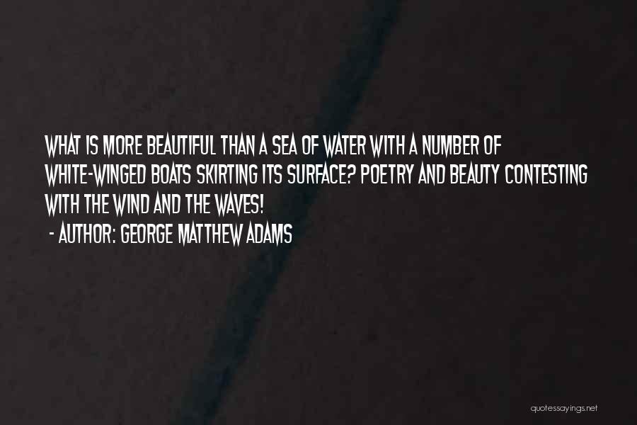 Under The Sea Wind Quotes By George Matthew Adams