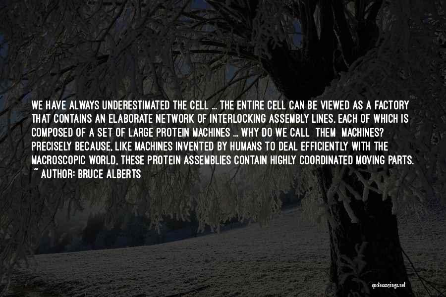Underestimated Quotes By Bruce Alberts
