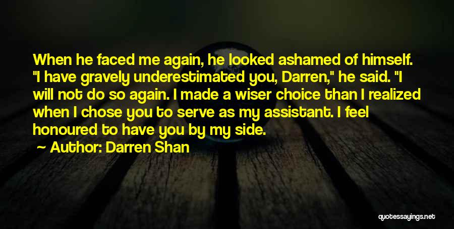 Underestimated Quotes By Darren Shan