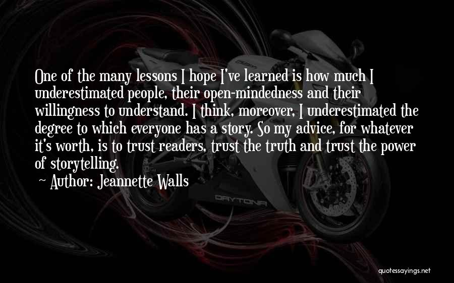 Underestimated Quotes By Jeannette Walls