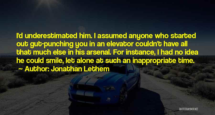 Underestimated Quotes By Jonathan Lethem