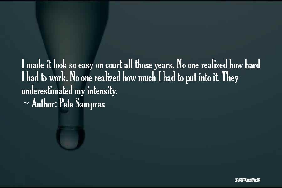 Underestimated Quotes By Pete Sampras
