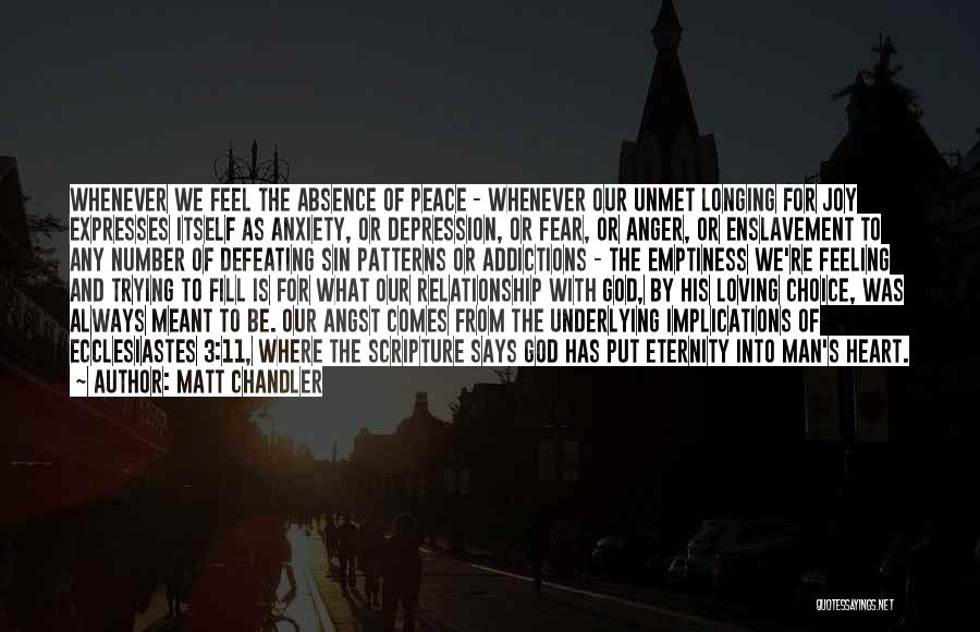 Underlying Depression Quotes By Matt Chandler