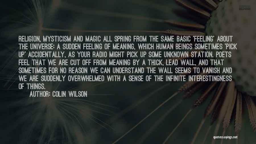 Understand Your Feelings Quotes By Colin Wilson