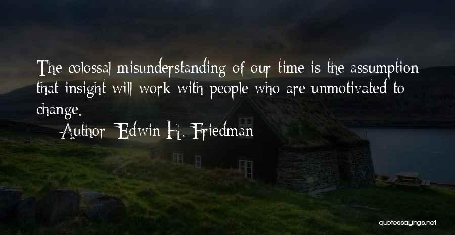 Understanding And Misunderstanding Quotes By Edwin H. Friedman