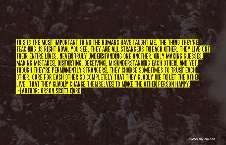 Understanding And Misunderstanding Quotes By Orson Scott Card