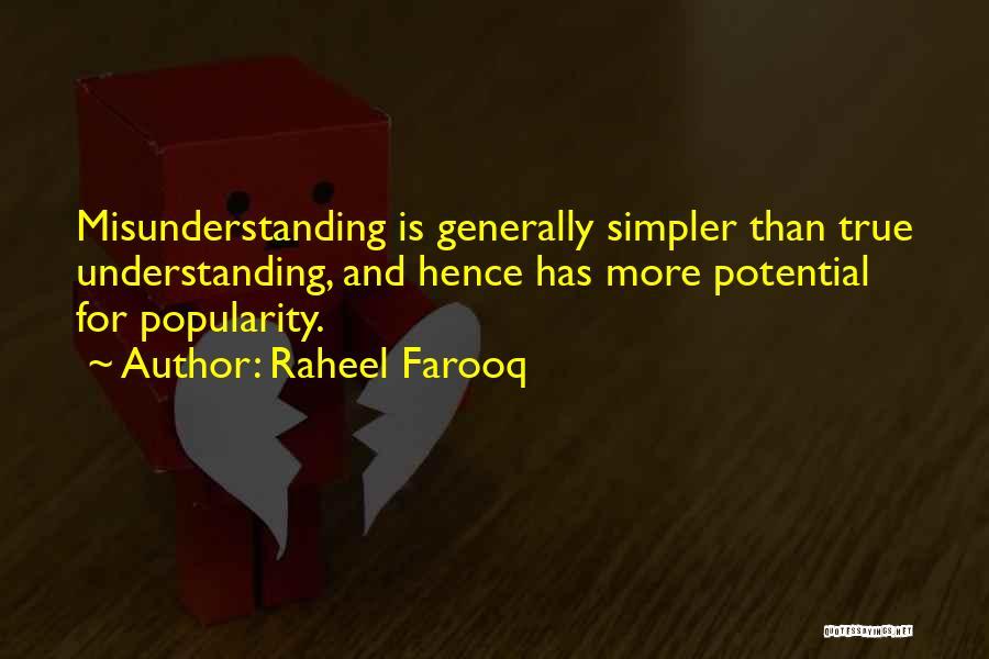 Understanding And Misunderstanding Quotes By Raheel Farooq