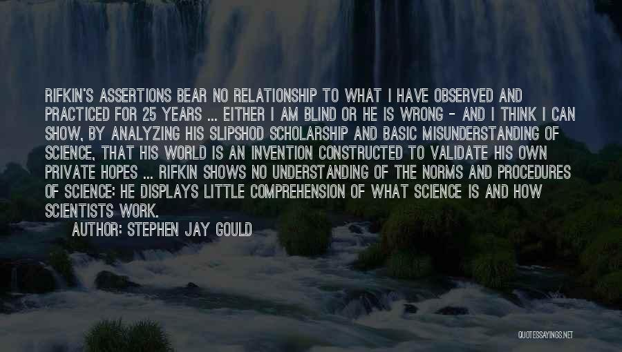 Understanding And Misunderstanding Quotes By Stephen Jay Gould