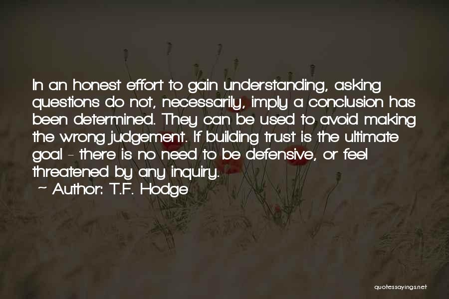 Understanding And Misunderstanding Quotes By T.F. Hodge